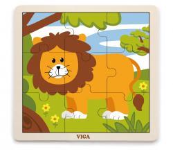 Viga 51442 Puzzle na podkładce 9 elementów - lew