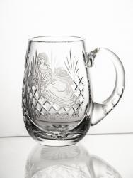 Kufel kryształowy z grawer znak zodiaku panna (14206)