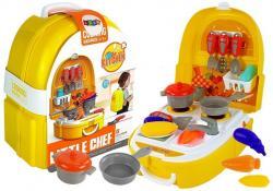 Zestaw Małego Kucharza Kuchnia w Plecaku Sztućce Gotowanie