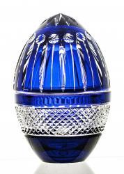 Kolorowa bomboniera kryształowa jajko (07558)