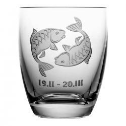 Szklanka znak zodiaku ryby na prezent (05620)