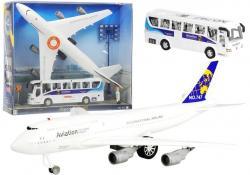 Duży Zestaw Lotnisko Samolot + Autobus Airbus