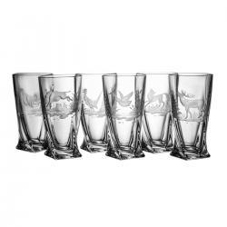Szklanki grawerowane long drink myśliwskie 2819