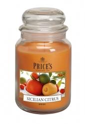 Price's Candles zapachowa świeca w dużym słoiku - SICILIAN CITRUS