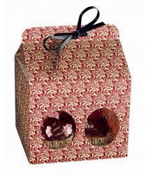 Opakowanie prezentowe na 4 muffinki Flora