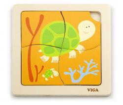 Viga 50143 Puzzle na podkładce - żółwiki