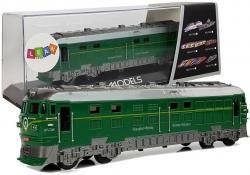 Pociąg Lokomotywa Pendolino z Napędem Światła i Dźwięk Zielony