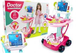 Zestaw Lekarski na Wózku Lekarz EKG 17 Elementów