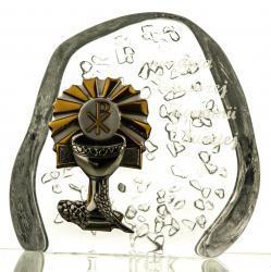 Skałka przycisk kryształ I Komunia Święta 04934