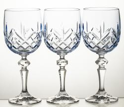 Kieliszki kolorowe do wina kryształowe 3 sztuki