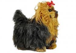 Interaktywny Pies York Porusza się Szczeka Brązowo-Czarny