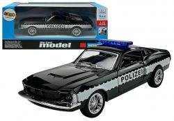 Autko Służb Policja 1:32 Czarne
