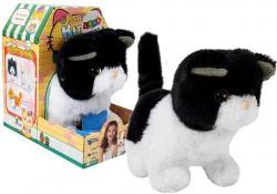 Interaktywny Kot Czarno-Biały Chodzi Rusza Ogonem na Baterie