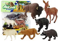 Gumowy Zestaw Figurek Zwierzęta Północy 6 elementów