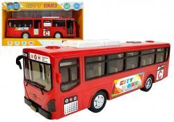 Muzyczny Autobus z Napędem Frykcyjnym i światłami Czerwony