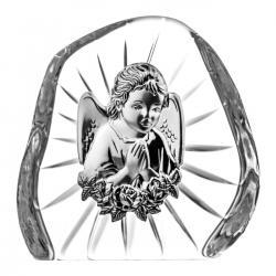 Skałka przycisk z Aniołkiem na Chrzest kryształ 07089