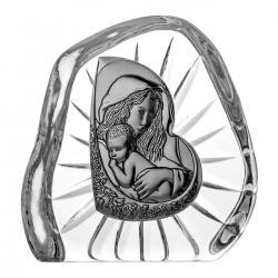 Przycisk kryształowy Matka Boska z Dzieciątkiem (07097)