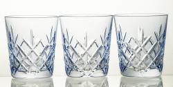Szklanki kryształowe do whisky 3 sztuki kolorowe