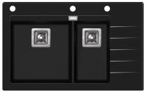 Aquasanita DELICIAPLUS GQD150B-601AW Czarne szkło/Czarny metalik