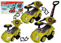Jeździk z Pchaczem Mega Car 3w1 Żółty