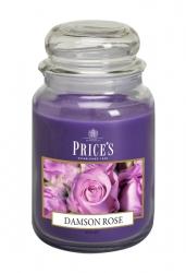 Price's Candles zapachowa świeca w dużym słoiku - DAMSON ROSE
