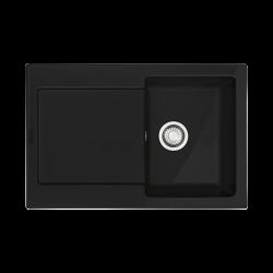 MRK 611-78 3 1/2 ZOdp ZSyf czarny mat  Zlewozmywak ceramiczny Maris Czarny mat