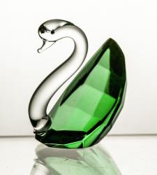 Łabędź kryształowy kolor zielony (14750)