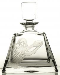 Karafka do whisky szklanki 6 sztuk grawer American football 11084