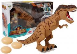 Dinozaur na Baterie Tyranozaur Znosi Jaja Brązowy