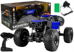 Auto Zdalnie Sterowane Monster Truck na resorach Niebieski
