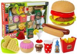 Zestaw Hamburger z artykułami spożywczymi Fast Food