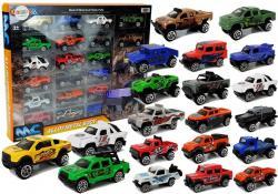 Zestaw Auta Terenowe Jeep Resoraki Różne Kolory 20 Sztuk