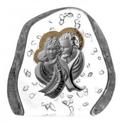Przycisk skałka kryształ z Święta Rodzina 03743