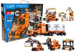 Konstrukcyjne Klocki 10w1 Ciężarówka 10 pojazdów 634 elementy C71002W Symulator Inżynierii Portowej