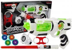 Zestaw Wojownika Kosmosu Pistolet Laserowy Miecz Świetlny Kajdanki Miotacz Dysków