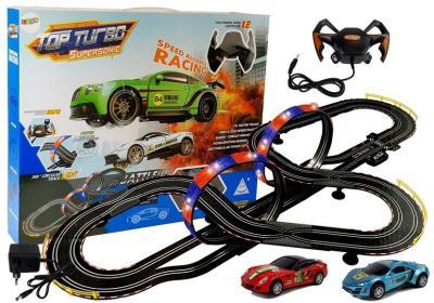 Tor Wyścigowy 1:43 2 Autka Top Turbo Światła 7,6 m długości