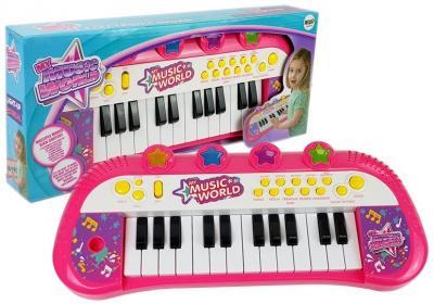 Pianinko Keyboard 24 klawisze Różowe