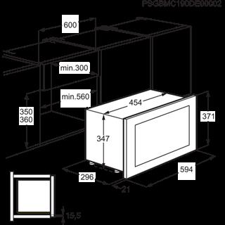 Electrolux KMFE172TEX Kuchenka mikrofalowa TouchOpen 800