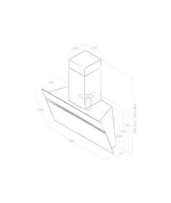 ELICA STRIPE URBAN CAST IRON/A/90