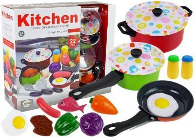 Zestaw Kuchenny Naczynia Kucharz 22 elementów
