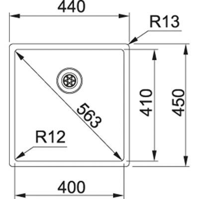 Franke Box BXX 110-45/ BXX 210-45 stal szlachetna